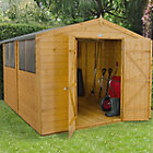 10X8 Forest Apex Shiplap Wooden Shed
