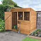 7X5 Pent Overlap Wooden Shed