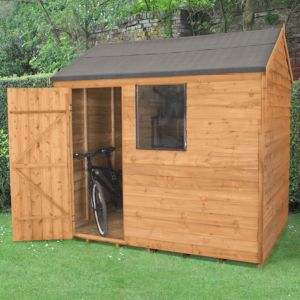 8X6 Reverse Apex Overlap Wooden Shed with Assembly Service