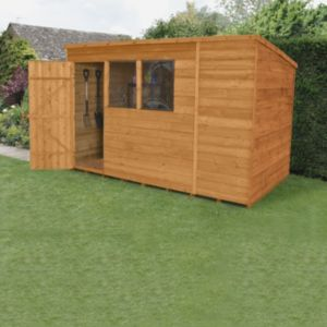 Image of 10x6 Forest Pent Overlap Wooden Shed With assembly service