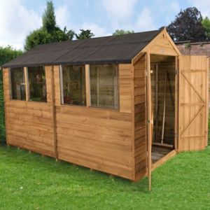 Image of 10x6 Forest Apex Overlap Wooden Shed With assembly service