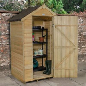 Image of 4X3 Apex Overlap Wooden Shed