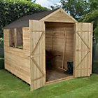 8X6 Apex Overlap Wooden Shed with Assembly Service Base Included Best Price, Cheapest Prices
