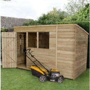 Image of 10X6 Pent Overlap Wooden Shed