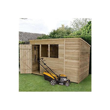 10x6 pent overlap wooden shed - Garden Sheds B Q