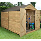 10X8 Forest Apex Overlap Wooden Shed with Assembly Service Best Price, Cheapest Prices