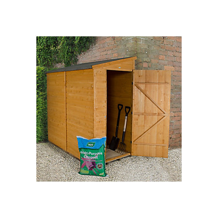 6x3 pent shiplap wooden shed departments diy at b q for Garden shed 6x3