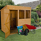 7X5 Pent Shiplap Wooden Shed