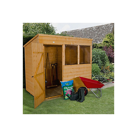 7x5 pent shiplap wooden shed departments diy at b q for Garden shed 7x5