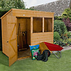 7X5 Pent Shiplap Wooden Shed with Assembly Service Base Included Best Price, Cheapest Prices