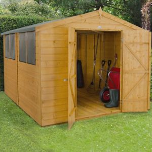 Image of 10x8 Forest Apex Shiplap Wooden Shed With assembly service