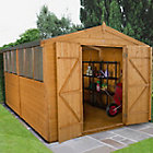12X8 Forest Apex Shiplap Wooden Shed with Assembly Service