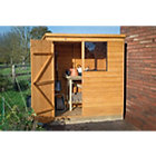 6X4 Pent Overlap Wooden Shed Base Included Best Price, Cheapest Prices