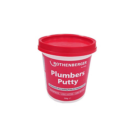 Rothenberger plumbers putty 750 g departments tradepoint for Plumbers putty