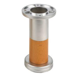 Image of Rothley 122mm Cherry Chrome effect Designer leg