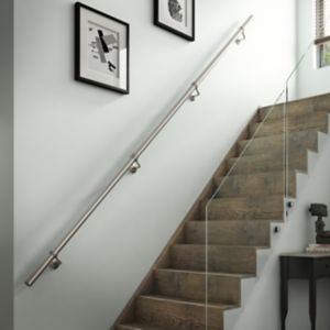 View Brushed Nickel Stainless Steel Handrail Kit 3.6m details