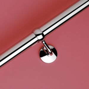 Image of Modern Polished Stainless steel Rounded Handrail (L)1.2m (W)40mm