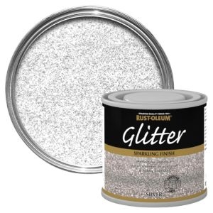 Image of Rust-Oleum Silver Glitter effect Gloss Special effect paint 125 ml