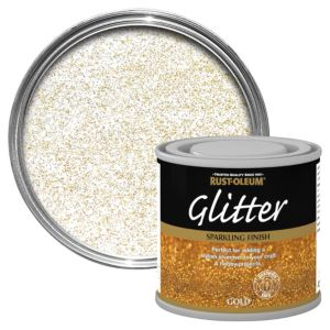Image of Rust-Oleum Gold Glitter effect Gloss Special effect paint 125 ml