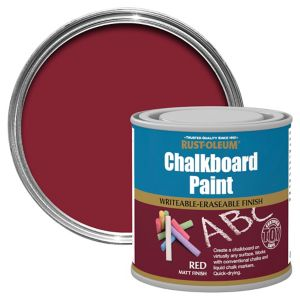 Image of Rust-Oleum Red Matt Chalkboard paint 0.25L