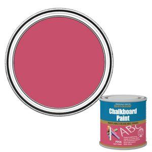 Image of Rust-Oleum Pink Matt Chalkboard paint 0.25L