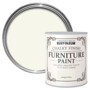 RustOleum Antique White Chalky Matt Furniture Paint 125ml