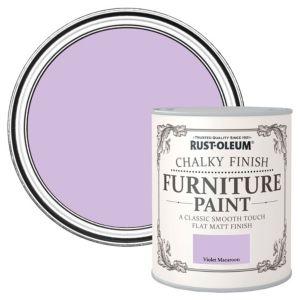 Rust-Oleum Rust-Oleum Violet Macaroon Flat Matt Furniture Paint 750 ml