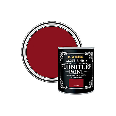 rust oleum rust oleum empire red gloss furniture paint 125