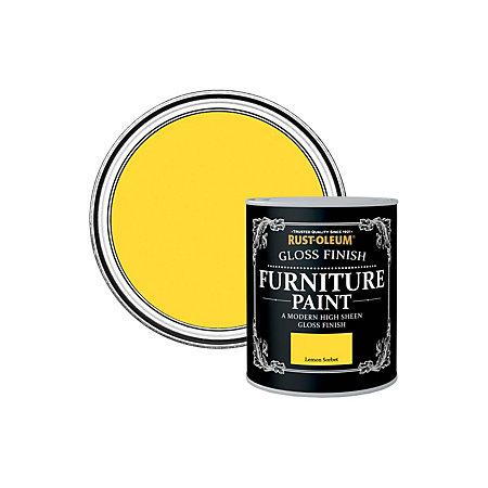 Rust Oleum Rust Oleum Lemon Sorbet Gloss Furniture Paint