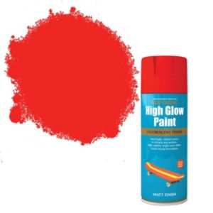 View Rust-Oleum High Glow Red Matt Spray Paint 400ml details