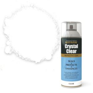 View Rust-Oleum Crystal Clear Clear Semi-Gloss Protective Spray Coat 400ml details