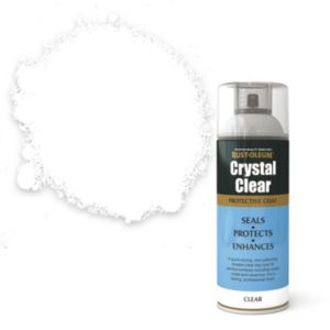 View Rust-Oleum Crystal Clear Clear Matt Protective Spray Coat 400ml details