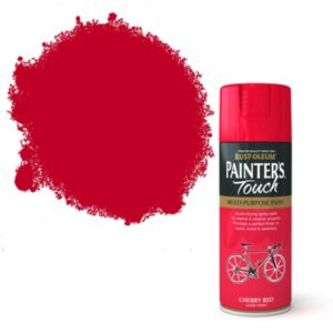 View Rust-Oleum Painter's Touch Multipurpose Cherry Red Gloss Spray Paint 400ml details