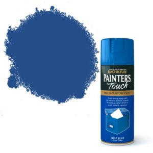 View Rust-Oleum Painter's Touch Multipurpose Deep Blue Gloss Spray Paint 400ml details