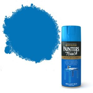 View Rust-Oleum Painter's Touch Multipurpose Brilliant Blue Gloss Spray Paint 400ml details
