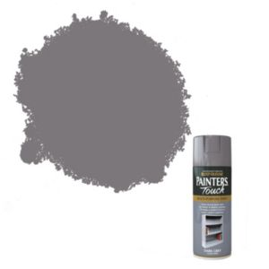 View Rust-Oleum Painter's Touch Multipurpose Dark Grey Gloss Spray Paint 400ml details