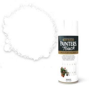 View Rust-Oleum Painter's Touch Multipurpose White Matt Spray Paint 400ml details
