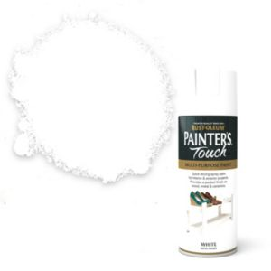 View Rust-Oleum Painter's Touch Multipurpose White Satin Spray Paint 400ml details