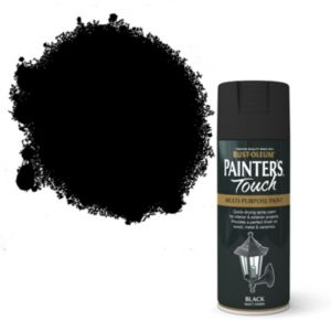 View Rust-Oleum Painter's Touch Multipurpose Black Matt Spray Paint 400ml details