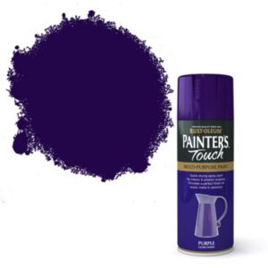 View Rust-Oleum Painter's Touch Multipurpose Purple Gloss Spray Paint 400ml details