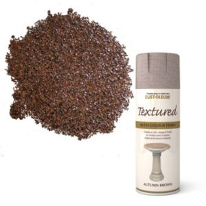 View Rust-Oleum Autumn Brown Textured Spray Paint 400ml details