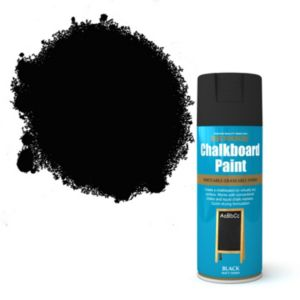 View Rust-Oleum Black Writeable-Eraseable Matt Chalkboard Paint 400ml details