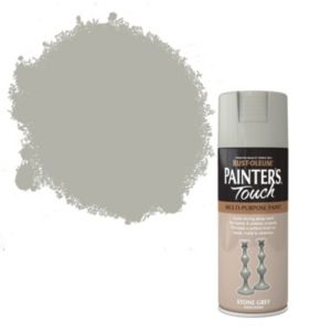 View Rust-Oleum Painter's Touch Multipurpose Stone Grey Satin Spray Paint 400ml details
