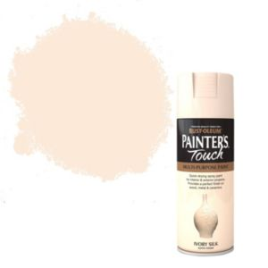 View Rust-Oleum Painter's Touch Multipurpose Ivory Silk Satin Spray Paint 400ml details