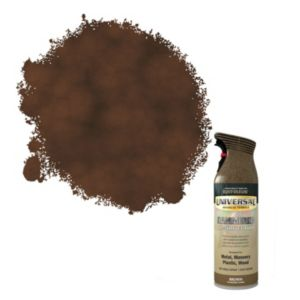 View Rust-Oleum Universal All Surface Brown Hammered Effect Spray Paint 400ml details