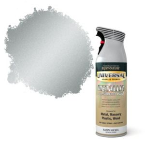 View Rust-Oleum Universal All Surface Nickel Metallic Effect Satin Spray Paint 400ml details