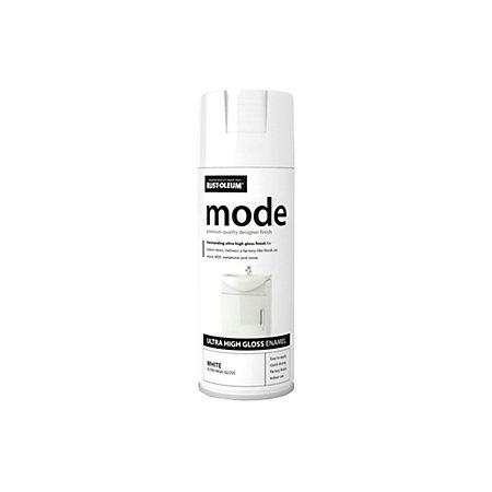 rust oleum mode white high gloss spray paint 400 ml departments. Black Bedroom Furniture Sets. Home Design Ideas