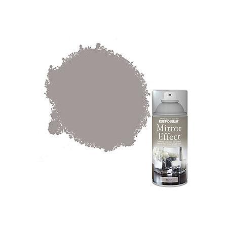 rust oleum silver gloss mirror spray paint 150ml departments diy. Black Bedroom Furniture Sets. Home Design Ideas