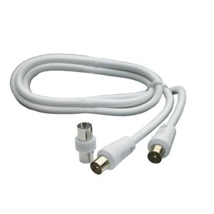 Image of Smartwares Aerial fly lead White 1.5 m