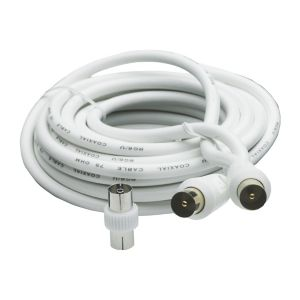 Image of Smartwares Aerial fly lead White 5 m